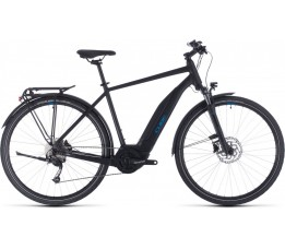 Cube Touring Hybrid One 500 Black/blue 2020, Black/blue