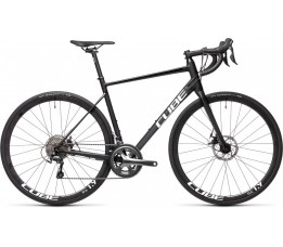Cube Attain Race Black/white 2021, Black/white