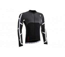 Cube Blackline Jersey L/s Black/white/grey Xxxl