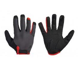 Cube Natural Fit Gloves Long Finger Grey/red L