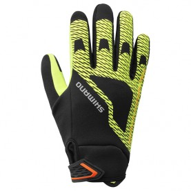 Shimano Windbreak Thermal Reflective H Zwart/neon Yellow