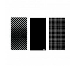 Oxc Nekwarmer Comfy Zwart&wit Tartan Mix 3 Stuks