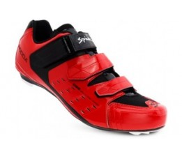 Spiuk Shoes Rodda Road 3 Velcros Red 45